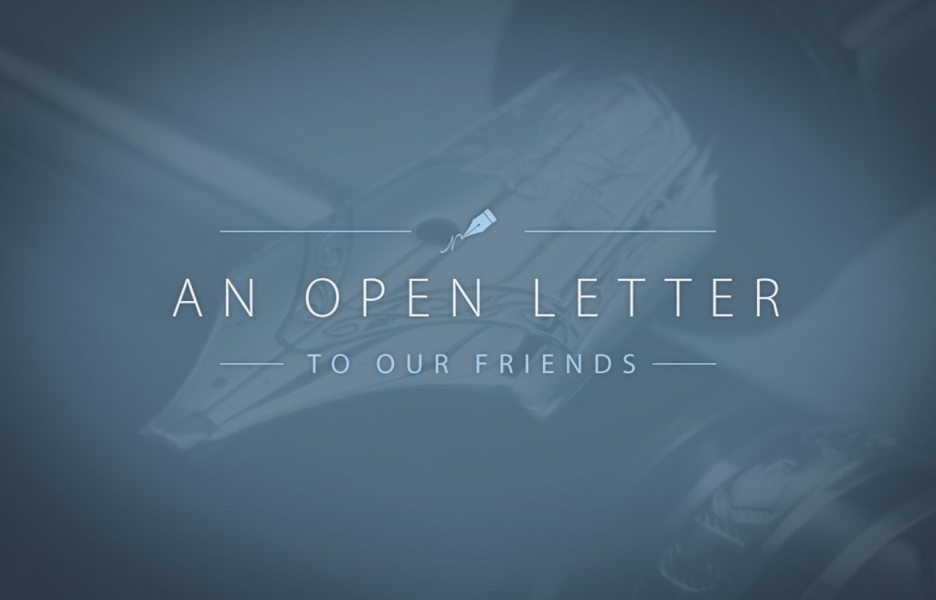 An Open Letter to Friends from Scott Pauley