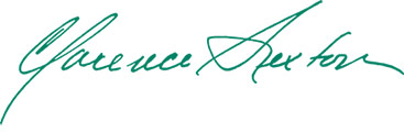 Clarence Sexton signature