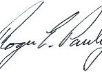 Roger Pauley Signature